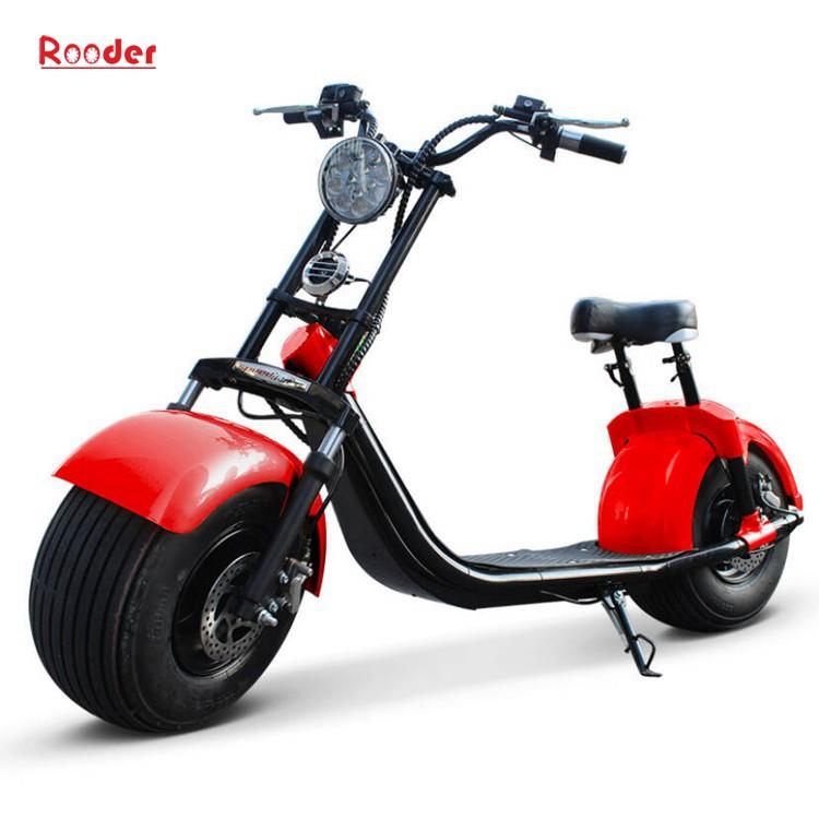 To hjul voksen elektrisk scooter med ce fcc overensstemmelse sertifisering fremre støtdemper fett dekk 1000w motor 48v 60v 72V litiumbatteri fra Harley by coco produsenten (3)