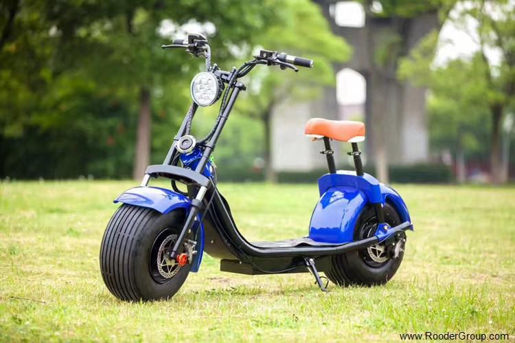 To hjul voksen elektrisk scooter med ce fcc overensstemmelse sertifisering fremre støtdemper fett dekk 1000w motor 48v 60v 72V litiumbatteri fra Harley by coco produsenten (31)