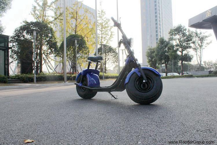 To hjul voksen elektrisk scooter med ce fcc overensstemmelse sertifisering fremre støtdemper fett dekk 1000w motor 48v 60v 72V litiumbatteri fra Harley by coco produsenten (46)