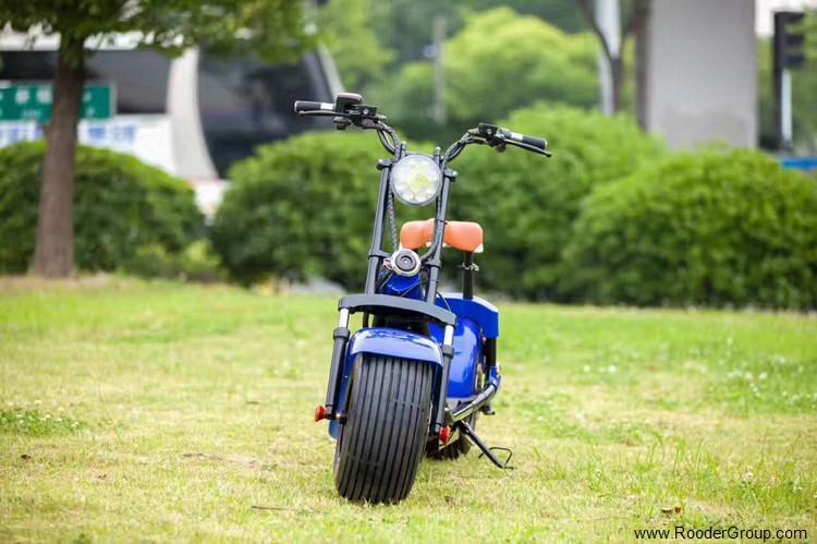 To hjul voksen elektrisk scooter med ce fcc overensstemmelse sertifisering fremre støtdemper fett dekk 1000w motor 48v 60v 72V litiumbatteri fra Harley by coco produsenten (32)